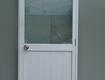 Cửa phòng vệ sinh nhôm sơn tĩnh điện màu trắng
