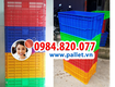 Thùng nhựa bít 61x42x31cm   nhựa việt nhật   pallet nhựa mới giá...