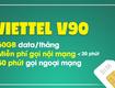 Sim số đẹp Viettel gói V90 80 sim