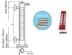 Đo mức dạng từ tính, model mlg80 1400mm  khd engineering