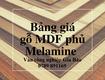 Báo giá Gỗ Công Nghiệp MDF   Gỗ MDF Giá Rẻ Nhất Bình Định