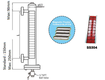 Đo mức dạng từ tính, model mlg 80  khd engineering