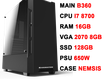 Pc gaming vpc core i7 8700/ 16gb/ rtx2070/ 650w