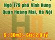 Bán nhà 30m2 x 5 tầng mới xây, ngõ 179 phố Vĩnh Hưng, Quận Hoàng Mai