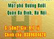 Chính chủ cần bán nhà đất mặt phố đường Bưởi, Quận Ba Đình, Hà Nội.