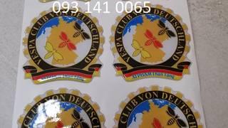 In logo thương hiệu sản phẩm decal phản quang phủ keo nổi