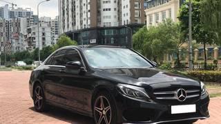Gia đình cần bán xe C300, sản xuất 2015, bản AMG full option, màu đen.