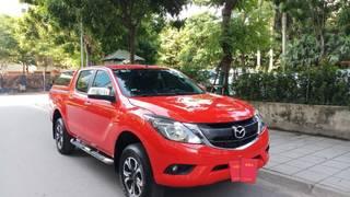 Ô TÔ THỦ ĐÔ Bán xe Mazda BT50 2.2AT sx 2016, màu đỏ 519 triệu