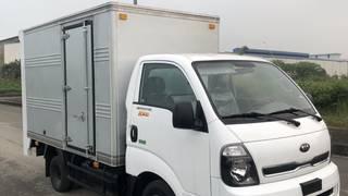 K200 thùng kín cửa hông bửng nâng 2 tầng 2019  xe có sẵn