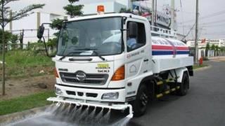 Cho thuê xe tưới nước rửa đường, tưới cây công trình. xe 10,12 m3