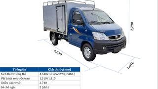 Thaco Towner 990 thùng dài 2.6m tải trọng 850 kg không lo vào phố