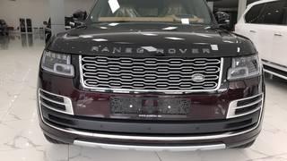 Range Rover SV Autobiography 2021,mới 100, màu đỏ, nội thất da bò, xe giao ngay.