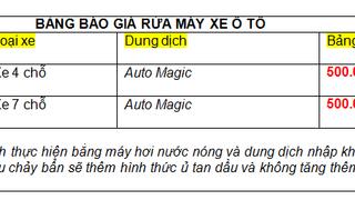Bảng báo giá rửa khoang máy ô tô chuyên nghiệp