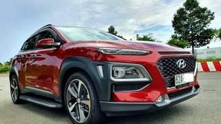 Hyundai kona turbo 2018 màu đỏ