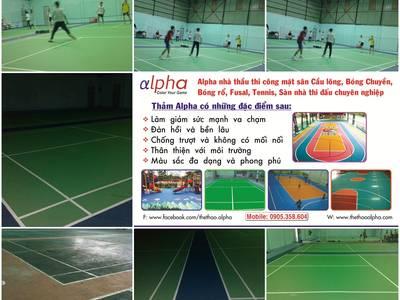 Sân cầu lông, mặt sân cao su, mặt sân đa năng, mặt sân nhà thi đấu, mặt sân thể thao 10