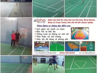 Sân cầu lông, mặt sân cao su, mặt sân đa năng, mặt sân nhà thi đấu, mặt sân thể thao 11
