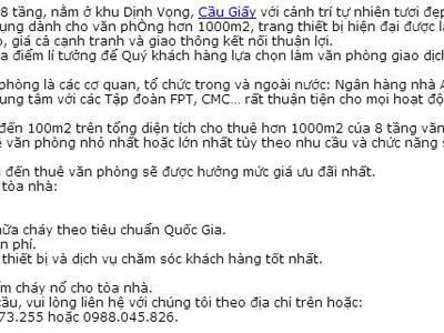 Vp mặt phố Trần Tahis Tông- full dịch vụ   đủ đồ từ 15-50m2 10