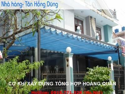 Chuyên lắp đặt Mái Che Sài Gòn Giá Sốc, bạt che mưa nắng tự cuốn, mái di động,...