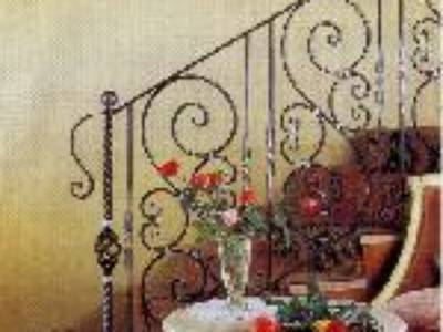 Cầu thang sắt nghệ thuật 4