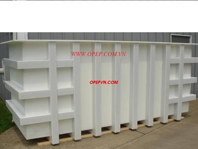 Bồn bể nhựa:PE,PP,PVC,FRP copositte  chịu hóa chất acid... 2