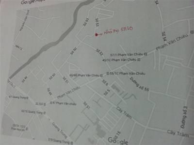 Phòng trọ 18m2, có bếp, gác xép gần ngã 3 Cây Trâm Phạm Văn Chiêu 3