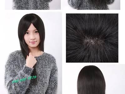 Bán mái ngố giả bằng tóc thật có da đầu giá rẻ, mái xéo, mái phồng 18