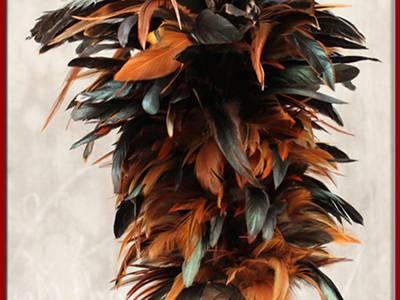 Chổi lông gà Triều Khúc   Hộp đựng card sơn mài 12