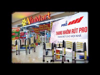 Thang nhôm rút Pro đã có tại hệ thống đại siêu thị Vinmart trên cả nước 5