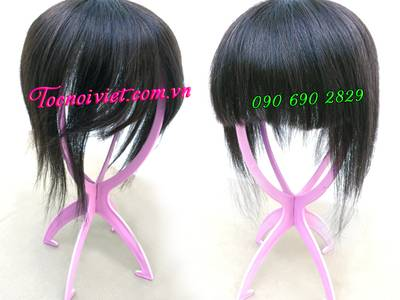 Toc hoi, mái hói giả nam nữ bằng tóc thật, tóc đội hói, bán tóc nối kẹp 4