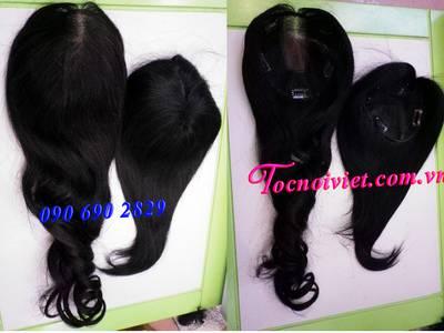 Toc hoi, mái hói giả nam nữ bằng tóc thật, tóc đội hói, bán tóc nối kẹp 10