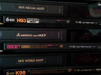 Bán đầu băng và băng VHS Nhật, điện 220v, đa hệ có đ.khiển 13