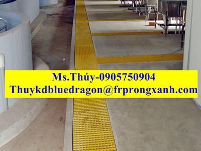 Tấm sàn lót cốt sợi thủy tinh frp grating, nhà cung cấp frp rồng xanh, vận chuyển toàn quốc 6