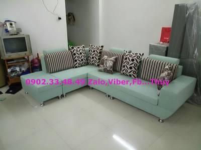 Sofa phòng khách sang trọng - sofa vải tặng kèm bàn nước 0