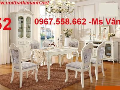Bộ bàn ghế ăn gỗ tân cổ điển Vĩnh Long Bến Tre 14