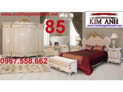 Giường Ngủ Tân Cổ Điển Giá Rẻ - đặt mua giường cổ điển sang trọng 19