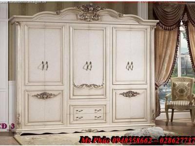 Tủ quần áo cổ điển, tủ quần áo tân cổ điển đẹp, mẫu mã đa dạng, giá cả hợp lý 2