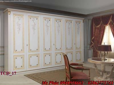 Tủ quần áo cổ điển, tủ quần áo tân cổ điển đẹp, mẫu mã đa dạng, giá cả hợp lý 16