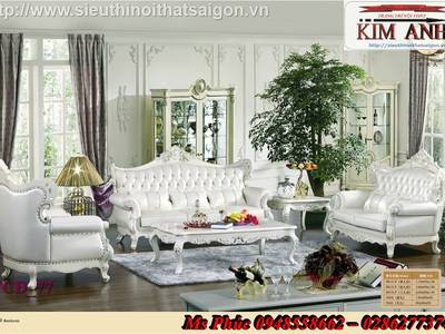 Sang trọng với 20  mẫu sofa tân cổ điển nhập khẩu tại nội thất Kim Anh sài gòn 3