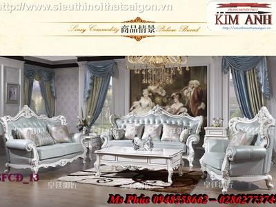 Sang trọng với 20  mẫu sofa tân cổ điển nhập khẩu tại nội thất Kim Anh sài gòn 16