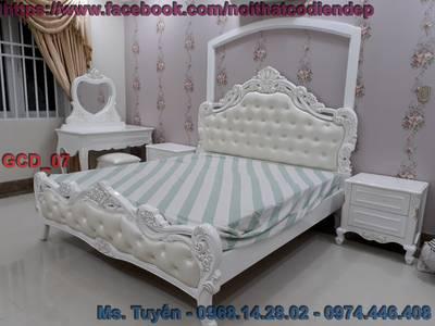 Giường ngủ tân cổ điển giá rẻ , bộ giường ngủ cổ điển tại tphcm , giường cổ điển Châu Âu tại Cần Thơ 3