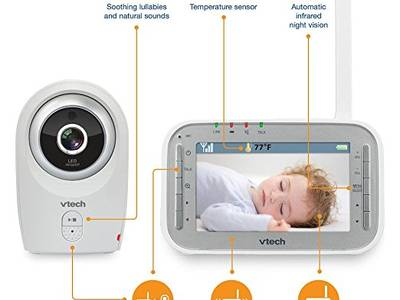 Máy báo khóc Vtech Safe Sound Full Color Video Monitor VM341 0