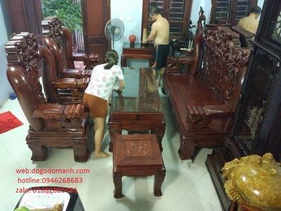 Bộ Bàn Ghế Rồng Đỉnh Hương Vân Tay 18 - Hàng 6 - 10 - 12 món 7