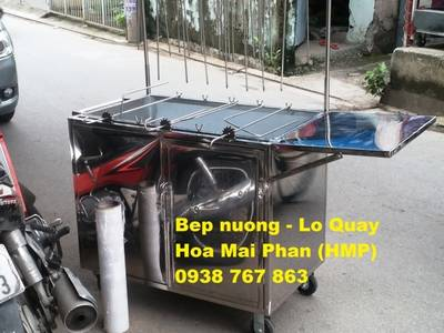 Bán Lò quay vịt gà bằng động cơ, dùng than củi 3
