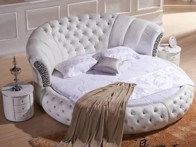 Bán giường tròn giá rẻ tphcm, giường ngủ hình tròn bọc nệm 6