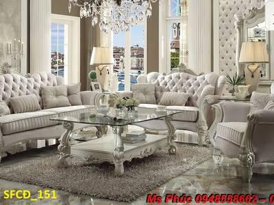 Sofa tân cổ điển giá rẻ tại tphcm, bán ghế sofa cổ điển Châu Âu tại xưởng 8