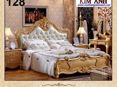 Giường ngủ cổ điển - giường ngủ phong cách châu âu 6