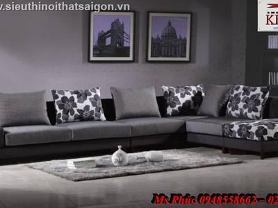 Sofa góc giá rẻ tphcm, sofa góc nhỏ gọn, giá sofa góc bọc vải bố, nỉ tại Đà Lạt, Đồng nai 1