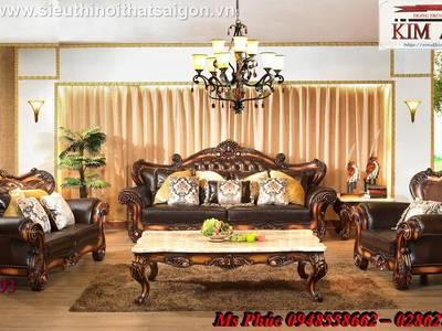 Sofa tân cổ điển giá rẻ, sofa cổ điển tphcm, giá ghế sofa đơn cổ điển Châu Âu tại Đà Lạt 5