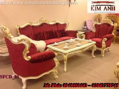 Sofa tân cổ điển giá rẻ, sofa cổ điển tphcm, giá ghế sofa đơn cổ điển Châu Âu tại Đà Lạt 6