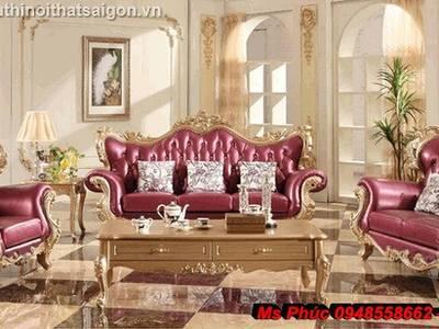 Sofa tân cổ điển giá rẻ, sofa cổ điển tphcm, giá ghế sofa đơn cổ điển Châu Âu tại Đà Lạt 11